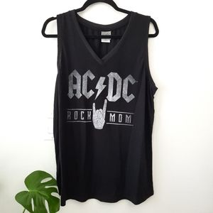 ACDC Rock Mom Tank Top